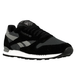 נעלי הליכה ריבוק לגברים Reebok CL Leather Clip Ele Gravelblackmedium - אפור/שחור