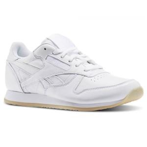 נעלי הליכה ריבוק לנשים Reebok CL Lthr Crepe Neutral Pop - לבן