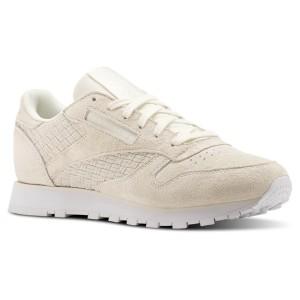 נעליים ריבוק לנשים Reebok CL Lthr Woven Emb - ורוד בהיר