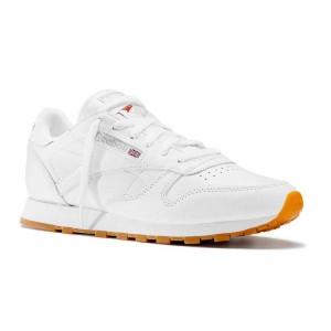 נעלי הליכה ריבוק לנשים Reebok Classic Leather - לבן מלא