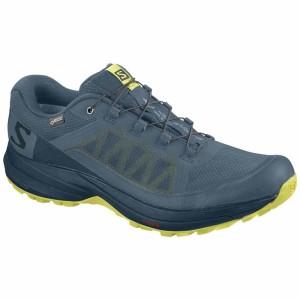 נעליים סלומון לגברים Salomon XA Elevate Goretex - כחול/צהוב