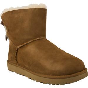מגפיים האג לנשים UGG MINI BAILEY BOW II CHESTNUT - חום