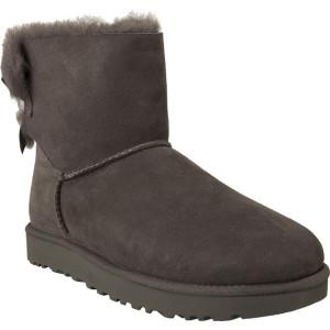 מגפיים האג לנשים UGG MINI BAILEY BOW II GREY - אפור כהה