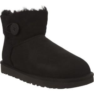 מגפיים האג לנשים UGG MINI BAILEY BUTTON II BLACK - שחור