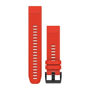 אביזרים גרמין לנשים Garmin  Quickfit Fenix 5 Silicon Strap - אדום