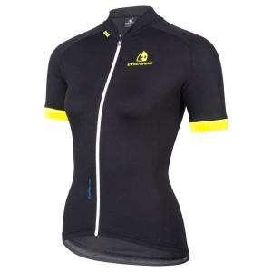ביגוד איטיאוקסינדו לנשים Etxeondo  Entzuna Short Sleeves Jersey - שחור
