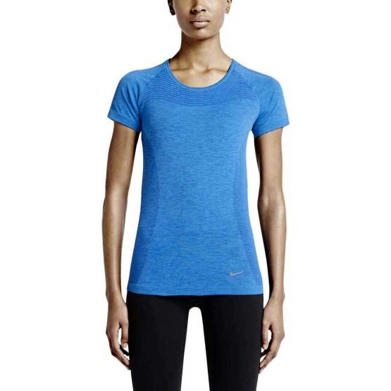 ביגוד נייק לנשים Nike  Dri Fit Knit S/S - כחול