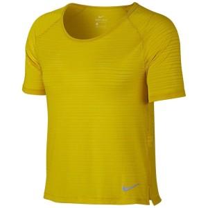 ביגוד נייק לנשים Nike  Miler Breathe - חרדל