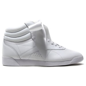 נעליים ריבוק לנשים Reebok Freestyle High Satin Bow - לבן