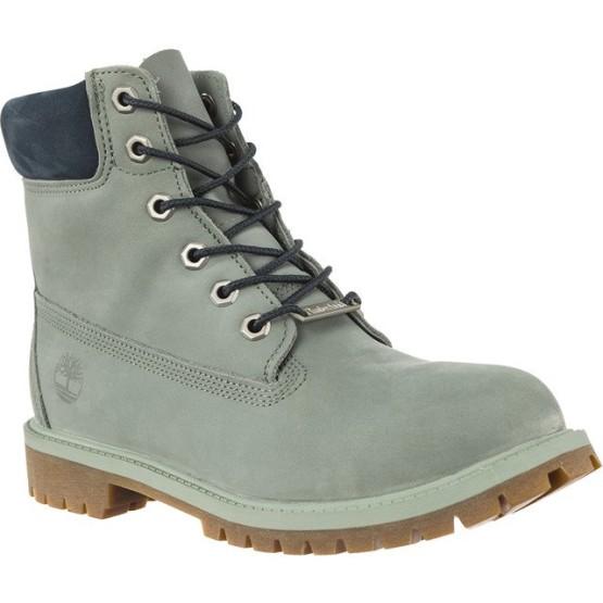 נעליים טימברלנד לנשים Timberland 6 INCH PREMIUM WATERPROOF BOOT - אפור/ירוק