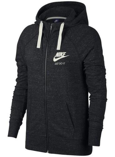 בגדי חורף נייק לנשים Nike NSW GYM VNTG HOODIE FZ - אפור