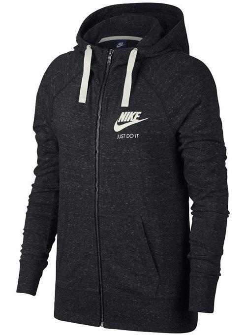 ביגוד נייק לנשים Nike NSW GYM VNTG HOODIE FZ - אפור