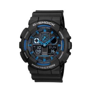 שעון קסיו ג'י-שוק ליוניסקס CASIO G-SHOCK GA_100 - שחור/כחול