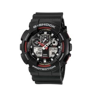 שעון קסיו ג'י-שוק ליוניסקס CASIO G-SHOCK GA_100 - שחור/אדום