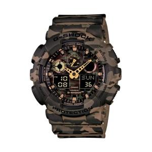 שעון קסיו ג'י-שוק לגברים CASIO G-SHOCK GA_100CM - ירוק