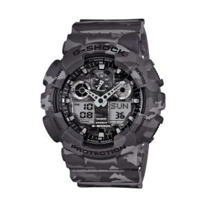 שעון קסיו ג'י-שוק לגברים CASIO G-SHOCK GA_100CM - אפור