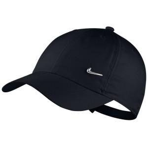 כובע נייק לגברים Nike METAL SWOOSH - שחור