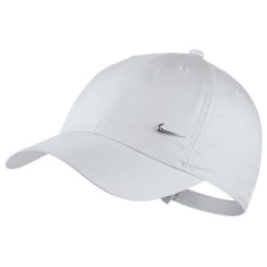 אביזרי ביגוד נייק לנשים Nike Y NK H86 CAP METAL SWOOSH - לבן