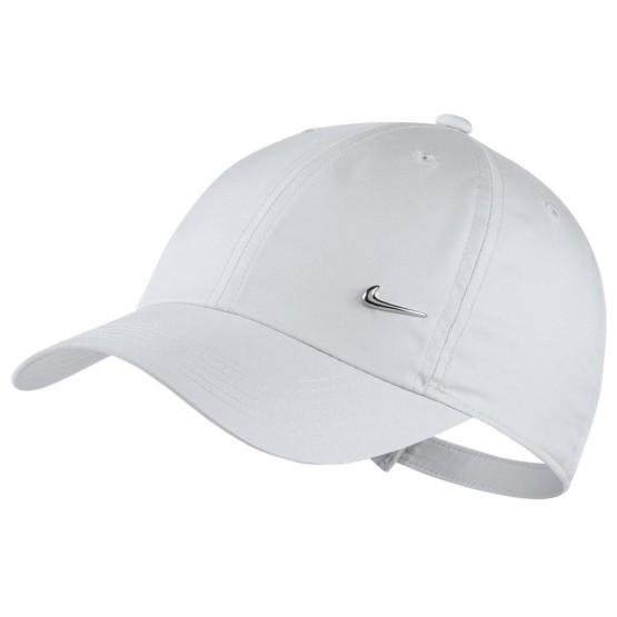 ביגוד נייק לגברים Nike Y NK H86 CAP METAL SWOOSH - לבן