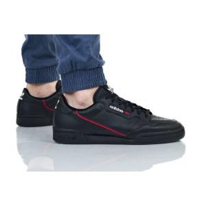 נעלי סניקרס אדידס לגברים Adidas Originals Continental 80 - שחור/אדום