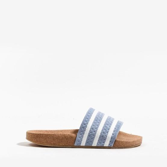 כפכפים Adidas Originals לנשים Adidas Originals Adilette Cork - חום בהיר