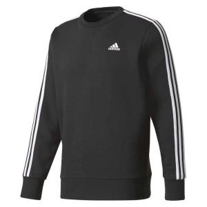 ביגוד אדידס לגברים Adidas 3 Stripes Crew Fleece - לבן