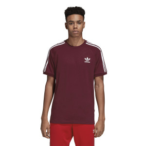 ביגוד Adidas Originals לגברים Adidas Originals 3-Stripess Tee - בורדו
