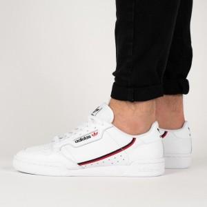 נעלי סניקרס אדידס לגברים Adidas Originals Continental 80 - לבן/אדום