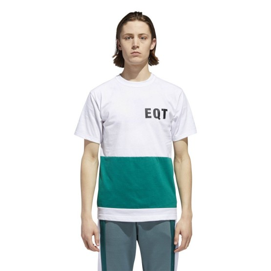 ביגוד Adidas Originals לגברים Adidas Originals EquipMALEt Graphic Tee - לבן/ירוק