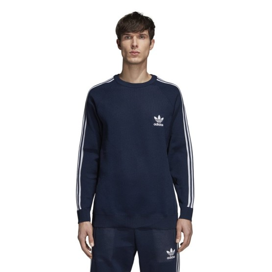 ביגוד Adidas Originals לגברים Adidas Originals Knit Crew - כחול