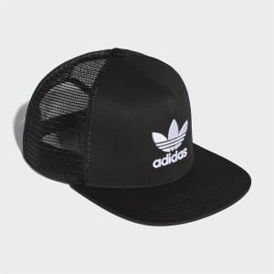 אביזרי ביגוד Adidas Originals לגברים Adidas Originals Trefoil Trucker - שחור