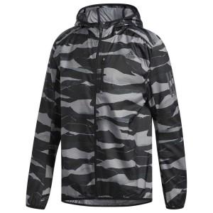 בגדי חורף אדידס לגברים Adidas Own The Run Camo - אפור/שחור