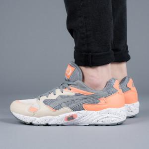 נעליים אסיקס טייגר לגברים Asics Tiger Gel-Diablo - אפור/כתום