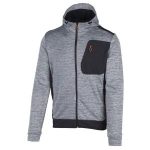 בגדי חורף סמפ לגברים CMP  Fitness Fix Hood Jacket - אפור