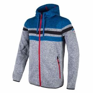 בגדי חורף סמפ לגברים CMP  Fleece Jacket Fix Hood - אפור