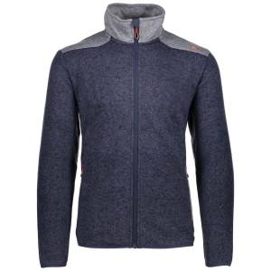 בגדי חורף סמפ לגברים CMP  Knit Jacket - כחול