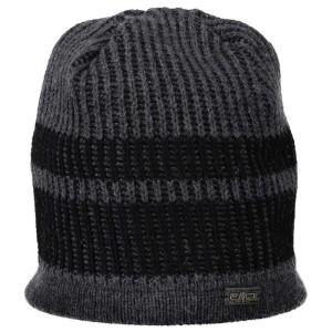 אביזרי ביגוד סמפ לגברים CMP  Knitted Hat-4 - שחור/אפור