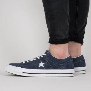 נעליים קונברס לגברים Converse One Star 74 Premium Suede - כחול