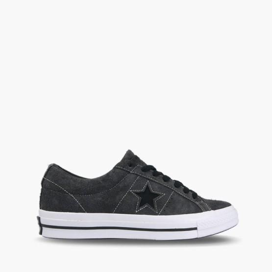 נעליים קונברס לגברים Converse One Star Dark Vintage Suede - אפור כהה
