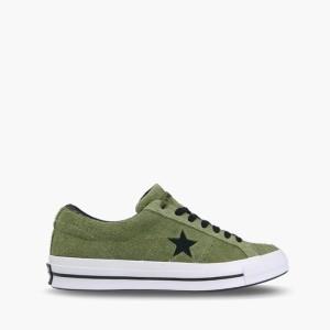 נעליים קונברס לגברים Converse One Star Dark Vintage Suede - ירוק