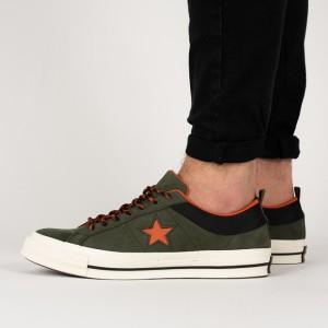 נעליים קונברס לגברים Converse One Star OX Sierra - ירוק כהה