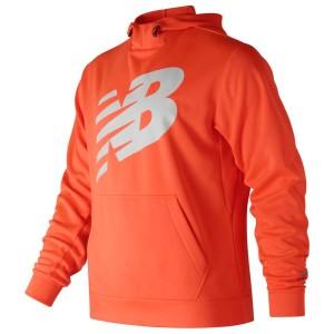 ביגוד ניו באלאנס לגברים New Balance Hood Graphic Core Fleece - כתום