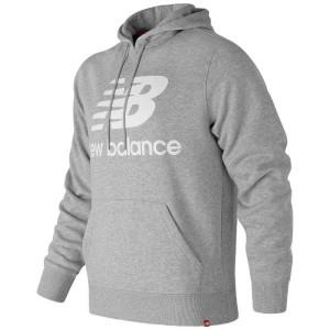 ביגוד ניו באלאנס לגברים New Balance T83528 Hoodie Logo - אפור