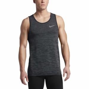 ביגוד נייק לגברים Nike  Dri Fit Knit Tank - אפור