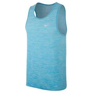 ביגוד נייק לגברים Nike  Dri Fit Knit Tank - כחול
