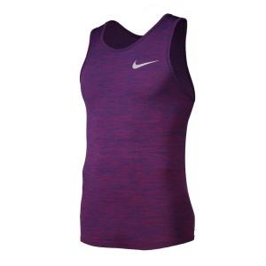 ביגוד נייק לגברים Nike  Dri Fit Knit Tank - סגול
