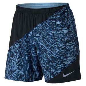 ביגוד נייק לגברים Nike  Flex 7 Distance Printed Shorts - שחור/כחול