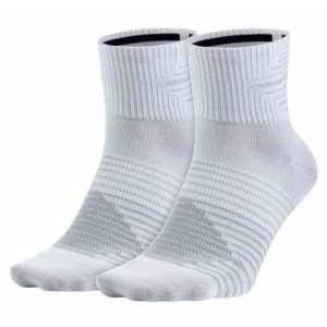 אביזרי ביגוד נייק לגברים Nike  Running Dri-Fit Lightweight 2 Pair Pack - לבן
