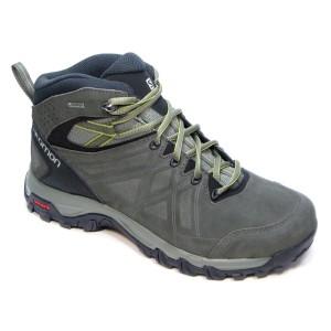 נעלי טיולים סלומון לגברים Salomon Evasion 2 Mid Ltr Gtx Goretex - אפור