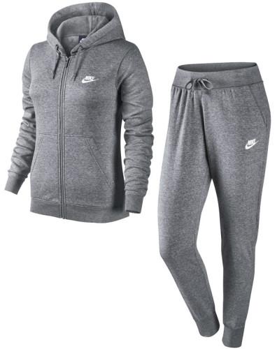בגדי חורף נייק לנשים Nike NSW TRK SUIT FLC - אפור